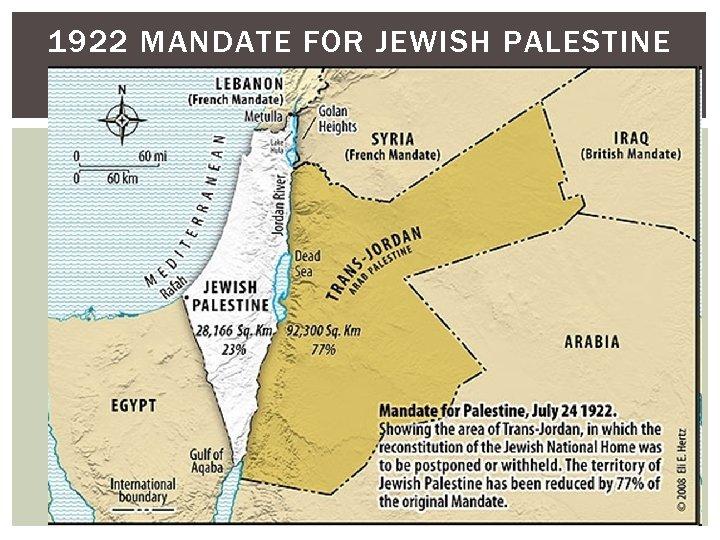 1922 MANDATE FOR JEWISH PALESTINE