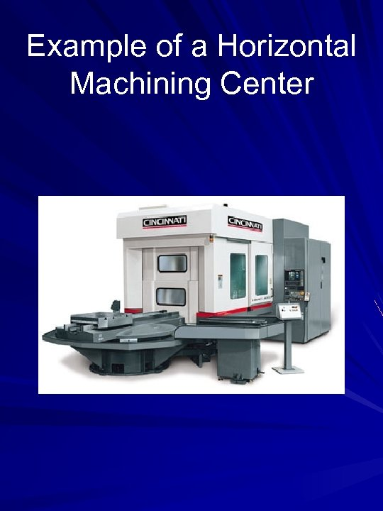 Example of a Horizontal Machining Center