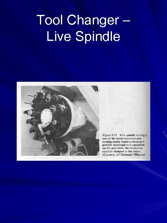 Tool Changer – Live Spindle