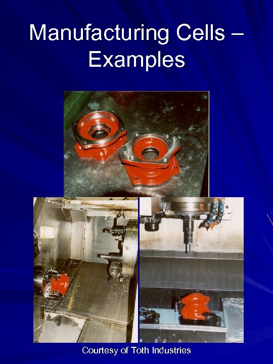 Manufacturing Cells – Examples Courtesy of Toth Industries