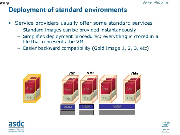 Server Platforms M 3 Image Deployment of standard environments • Service providers usually offer