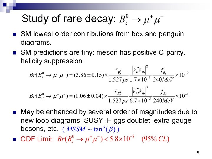 Study of rare decay: n n SM lowest order contributions from box and penguin