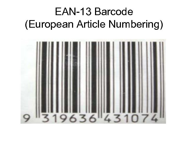 EAN-13 Barcode (European Article Numbering)