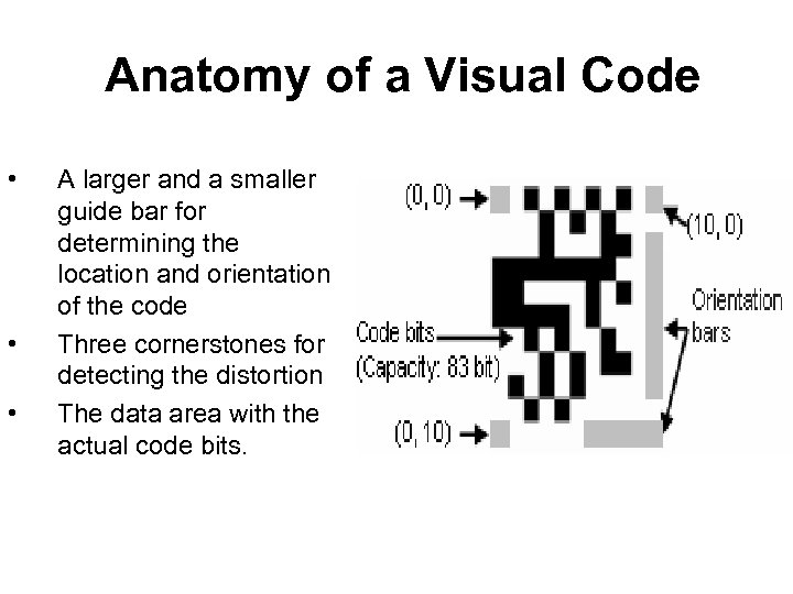 Anatomy of a Visual Code • • • A larger and a smaller guide
