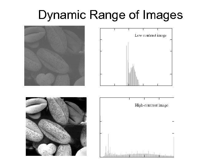 Dynamic Range of Images