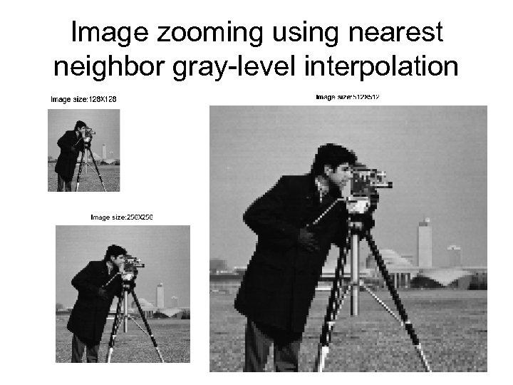 Image zooming using nearest neighbor gray-level interpolation