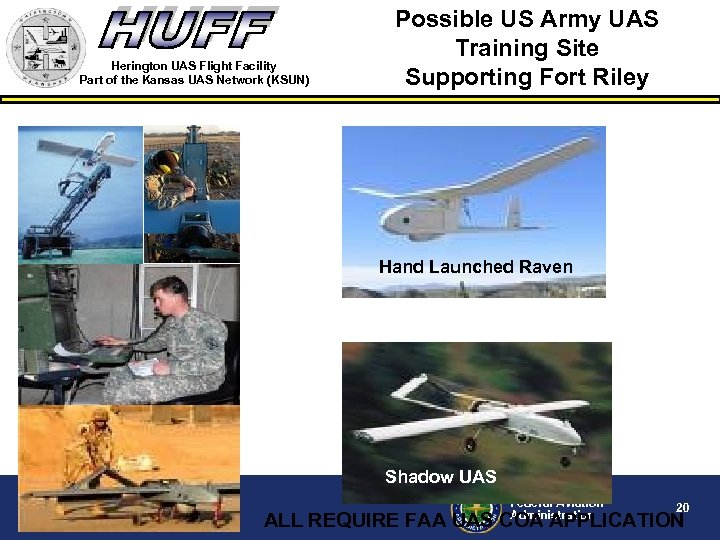 Herington UAS Flight Facility Part of the Kansas UAS Network (KSUN) Possible US Army