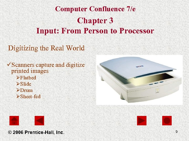Computer Confluence 7/e Chapter 3 Input: From Person to Processor Digitizing the Real World