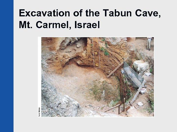 Excavation of the Tabun Cave, Mt. Carmel, Israel