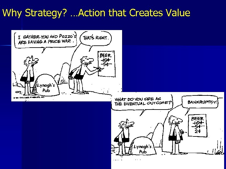 Why Strategy? …Action that Creates Value Pazzo's Lynagh's Pub