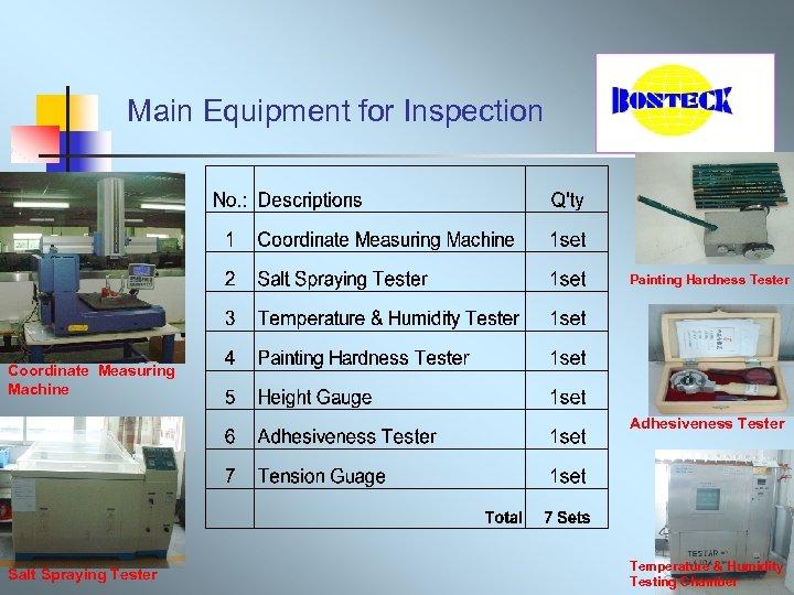 Main Equipment for Inspection Painting Hardness Tester Coordinate Measuring Machine Adhesiveness Tester Salt Spraying
