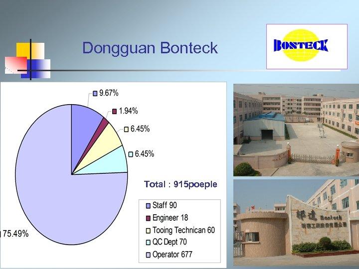 Dongguan Bonteck Total : 915 poeple
