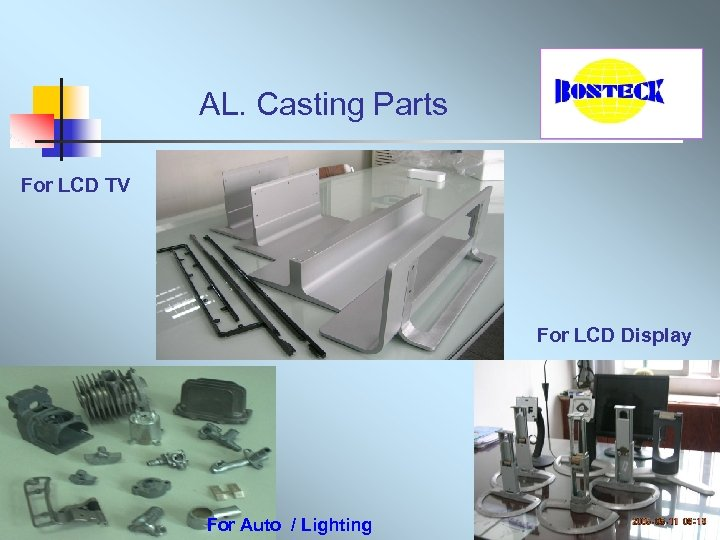 AL. Casting Parts For LCD TV For LCD Display For Auto / Lighting