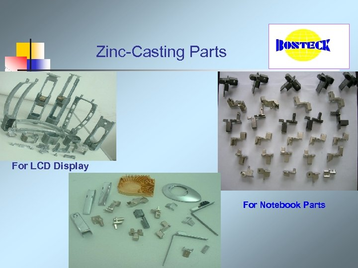 Zinc-Casting Parts For LCD Display For Notebook Parts