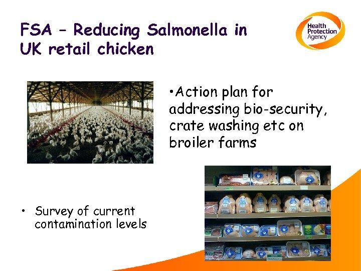 FSA – Reducing Salmonella in UK retail chicken • Action plan for addressing bio-security,