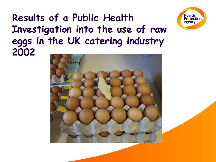 Results of a Public Health Investigation into the use of raw eggs in the