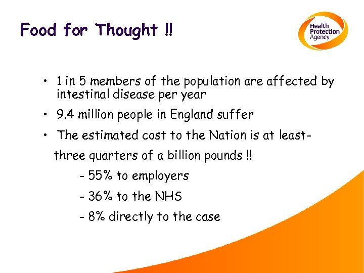 Food for Thought !! • 1 in 5 members of the population are affected