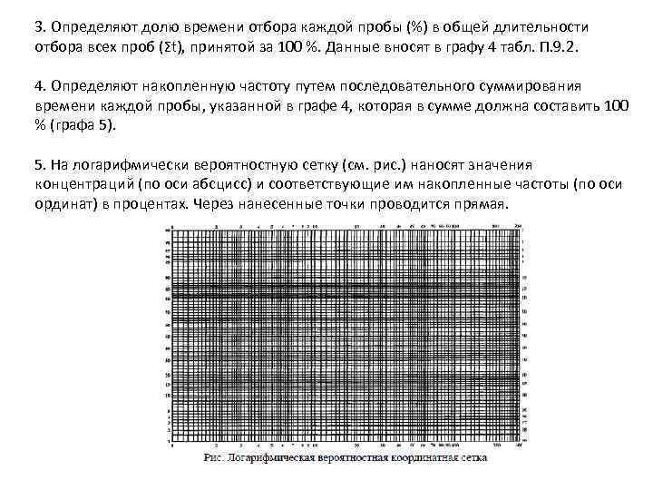 3. Определяют долю времени отбора каждой пробы (%) в общей длительности отбора всех проб