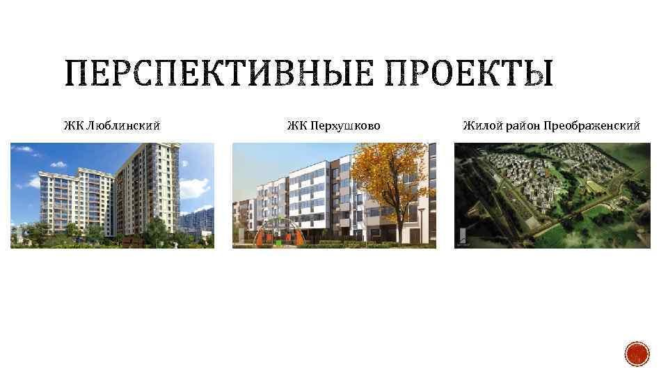 ЖК Люблинский ЖК Перхушково Жилой район Преображенский