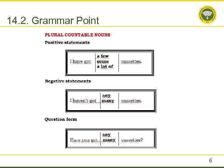 14. 2. Grammar Point 6