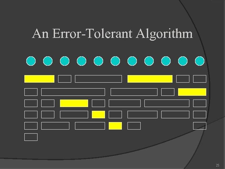 An Error-Tolerant Algorithm 25