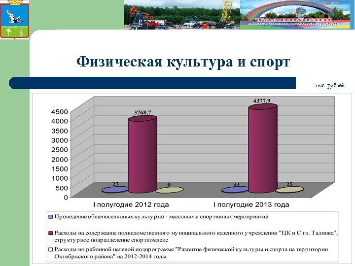 Физическая культура и спорт тыс. рублей