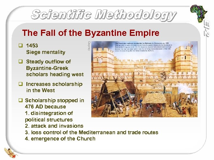 The Fall of the Byzantine Empire Osprey q 1453 Siege mentality q Steady outflow