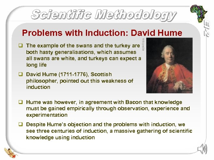 Problems with Induction: David Hume Wikipedia q The example of the swans and the
