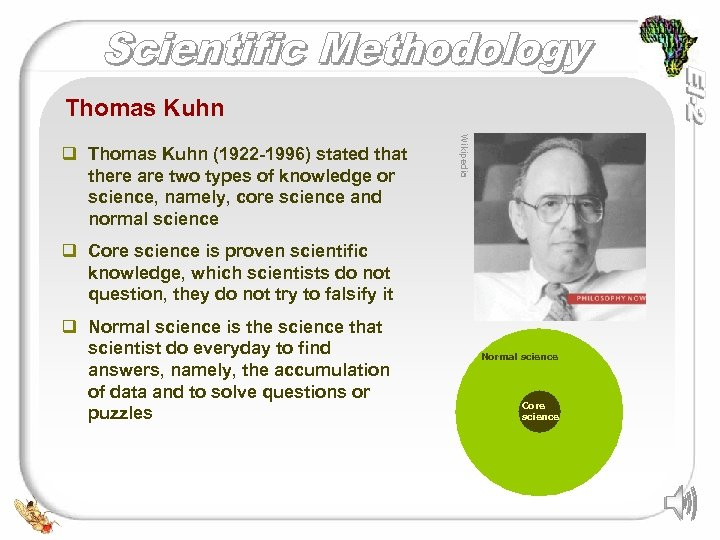 Thomas Kuhn Wikipedia q Thomas Kuhn (1922 -1996) stated that there are two types