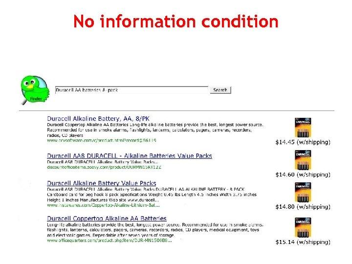 No information condition 86