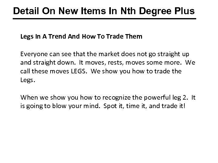 Detail On New Items In Nth Degree Plus Legs In A Trend And How