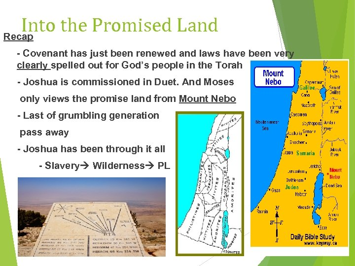Into the Promised Land Recap - Covenant has just been renewed and laws have