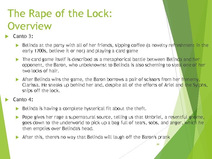 The Rape of the Lock: Overview Canto 3: The card game itself is described