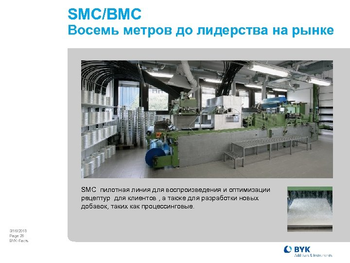 SMC/BMC Восемь метров до лидерства на рынке SMC пилотная линия для воспроизведения и оптимизации