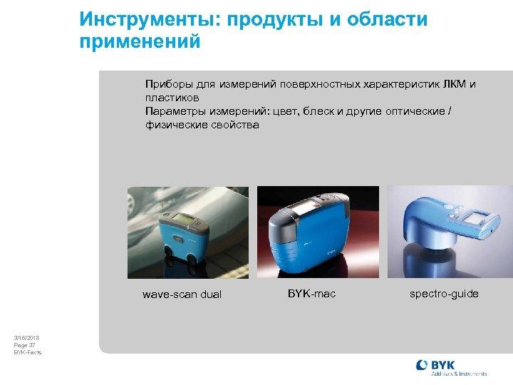 Инструменты: продукты и области применений Приборы для измерений поверхностных характеристик ЛКМ и пластиков Параметры