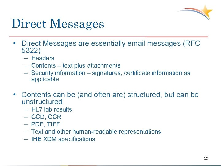 Direct Messages • Direct Messages are essentially email messages (RFC 5322) – Headers –