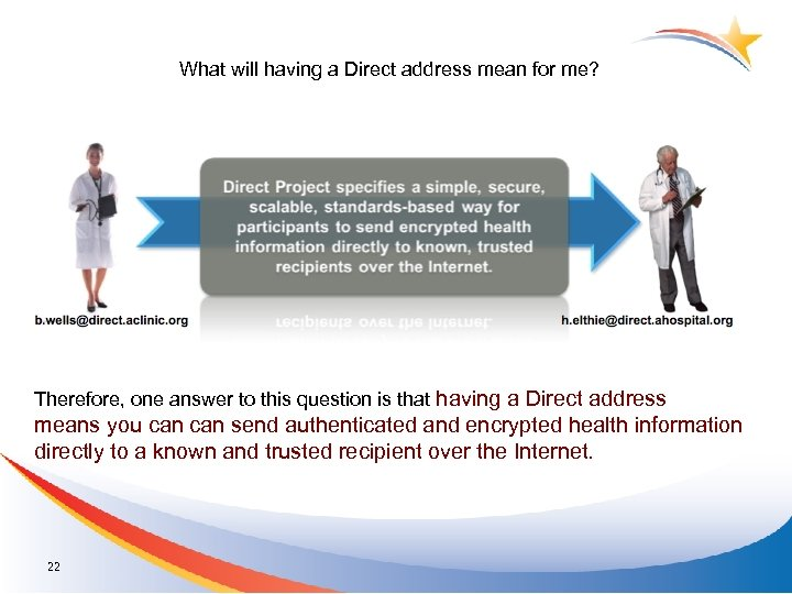 What will having a Direct address mean for me? Therefore, one answer to this