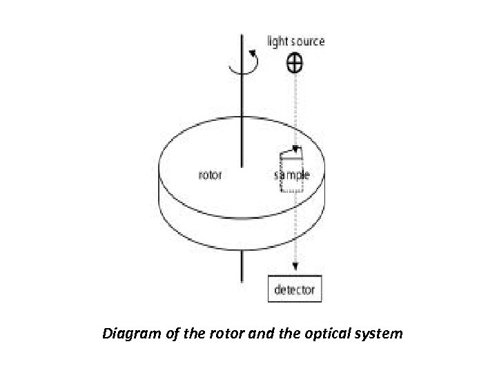 Diagram of the rotor and the optical system