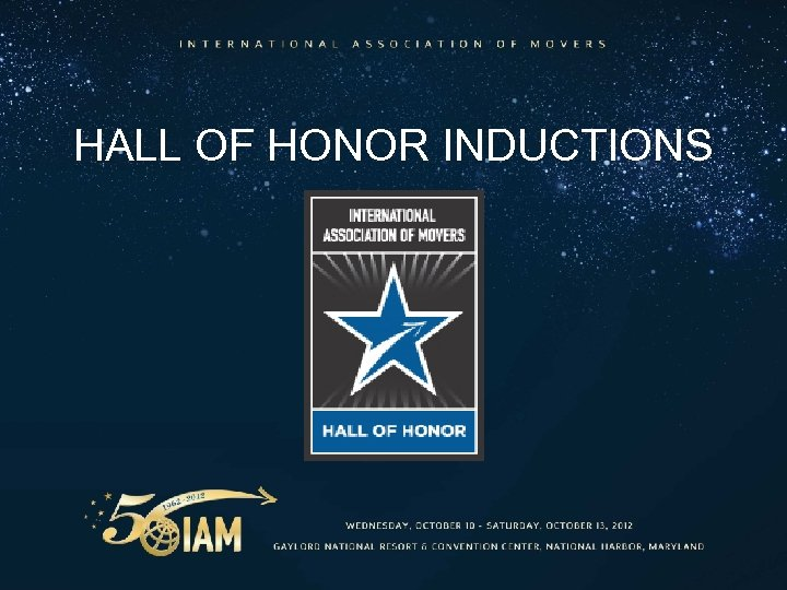 HALL OF HONOR INDUCTIONS