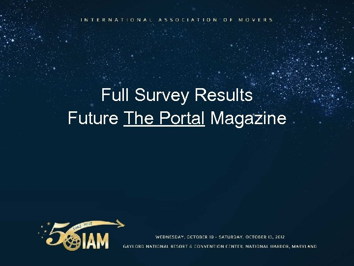 Full Survey Results Future The Portal Magazine