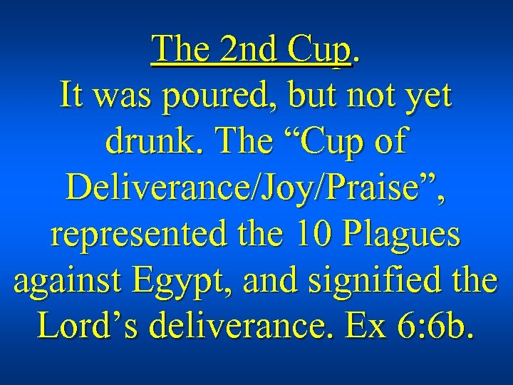 """The 2 nd Cup. It was poured, but not yet drunk. The """"Cup of"""