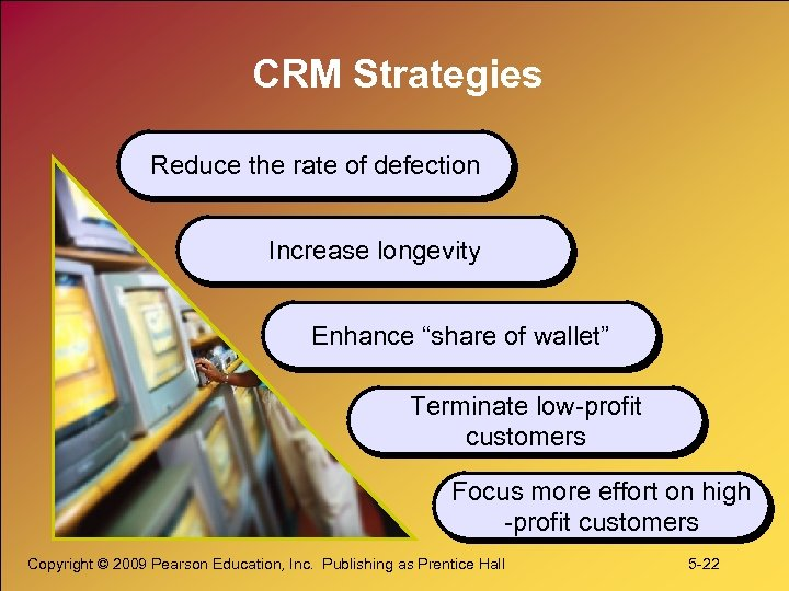 """CRM Strategies Reduce the rate of defection Increase longevity Enhance """"share of wallet"""" Terminate"""