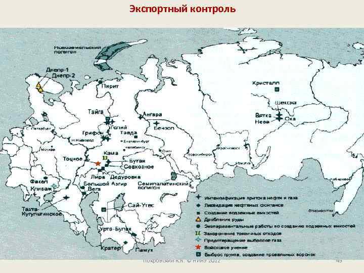 Экспортный контроль Покровский К. К. © НИЯУ 2012 43