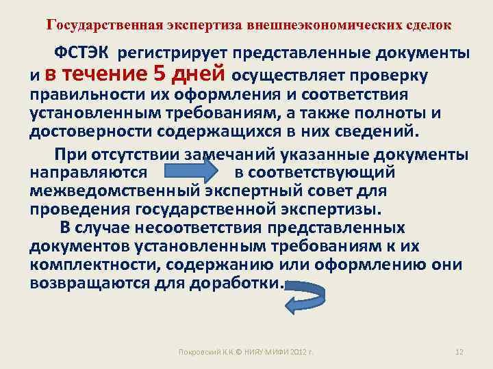 Государственная экспертиза внешнеэкономических сделок ФСТЭК регистрирует представленные документы и в течение 5 дней осуществляет