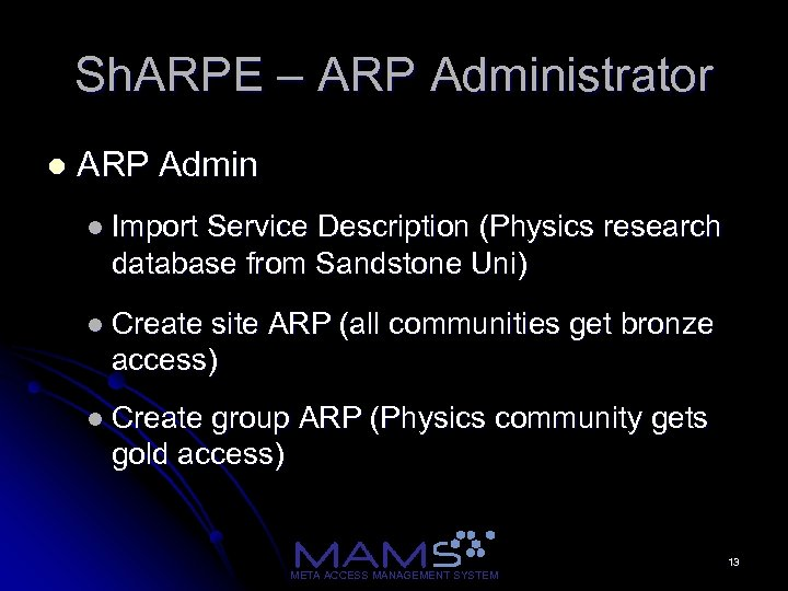 Sh. ARPE – ARP Administrator l ARP Admin l Import Service Description (Physics research
