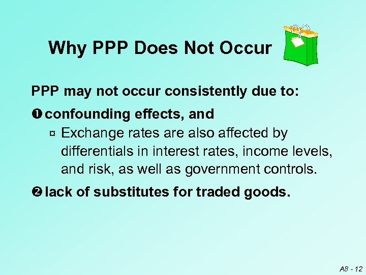 Why PPP Does Not Occur PPP may not occur consistently due to: confounding effects,
