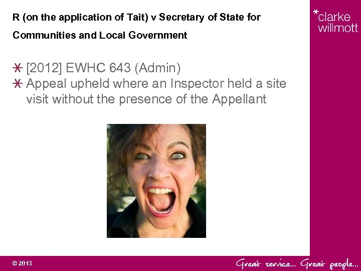 R (on the application of Tait) v Secretary of State for Communities and Local
