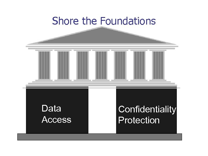 Shore the Foundations Data Access Confidentiality Protection