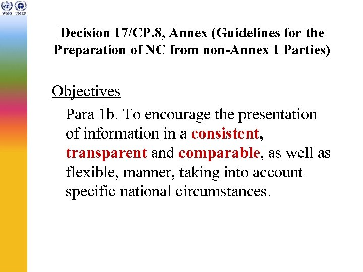 Decision 17/CP. 8, Annex (Guidelines for the Preparation of NC from non-Annex 1 Parties)