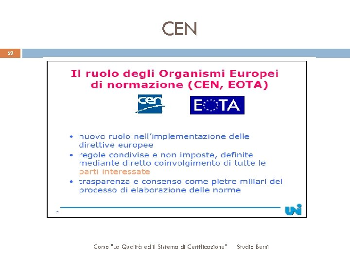 CEN 52 Corso